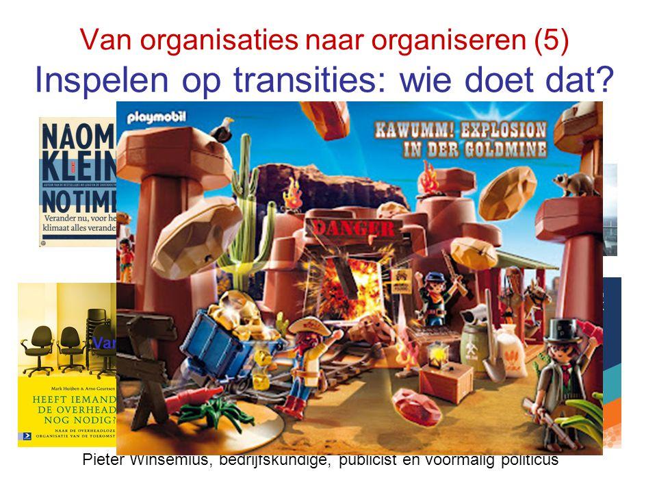 Van organisaties naar organiseren (5) Inspelen op transities: wie doet dat? Eenvoud in complexiteit Gerda van Dijk, hoogleraar Organisatie Ecologie, T