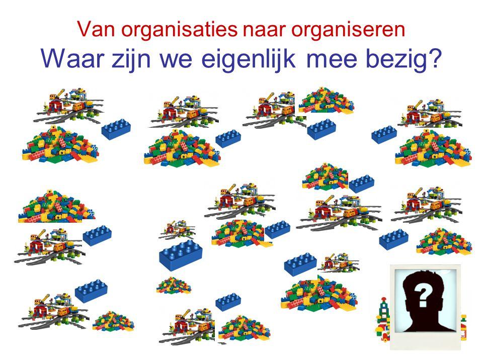 Van organisaties naar organiseren Waar zijn we eigenlijk mee bezig?