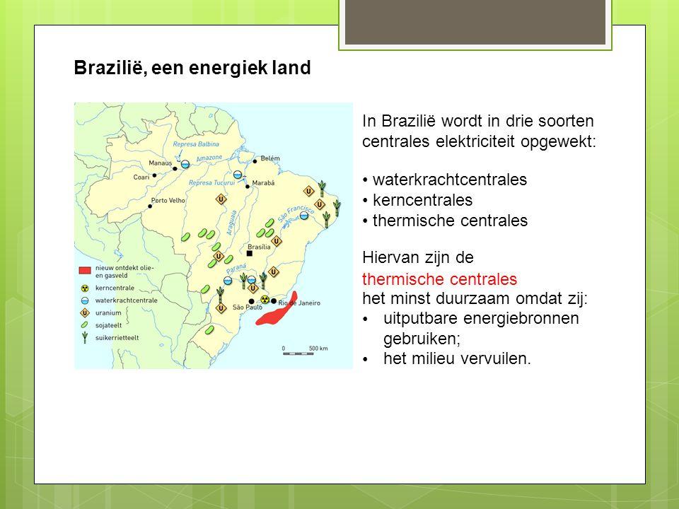 Energieconsumptie per hoofd Per hoofd van de bevolking gebruiken de Brazilianen meer / minder energie dan de Nederlanders.