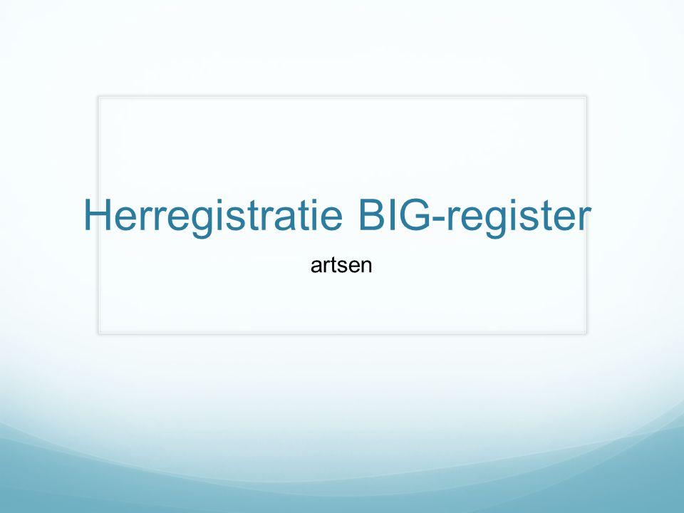 Herregistratie BIG-register artsen