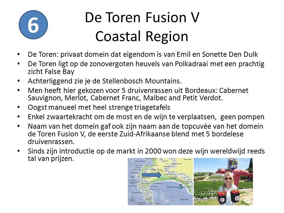 De Toren Fusion V Coastal Region De Toren: privaat domein dat eigendom is van Emil en Sonette Den Dulk De Toren ligt op de zonovergoten heuvels van Po