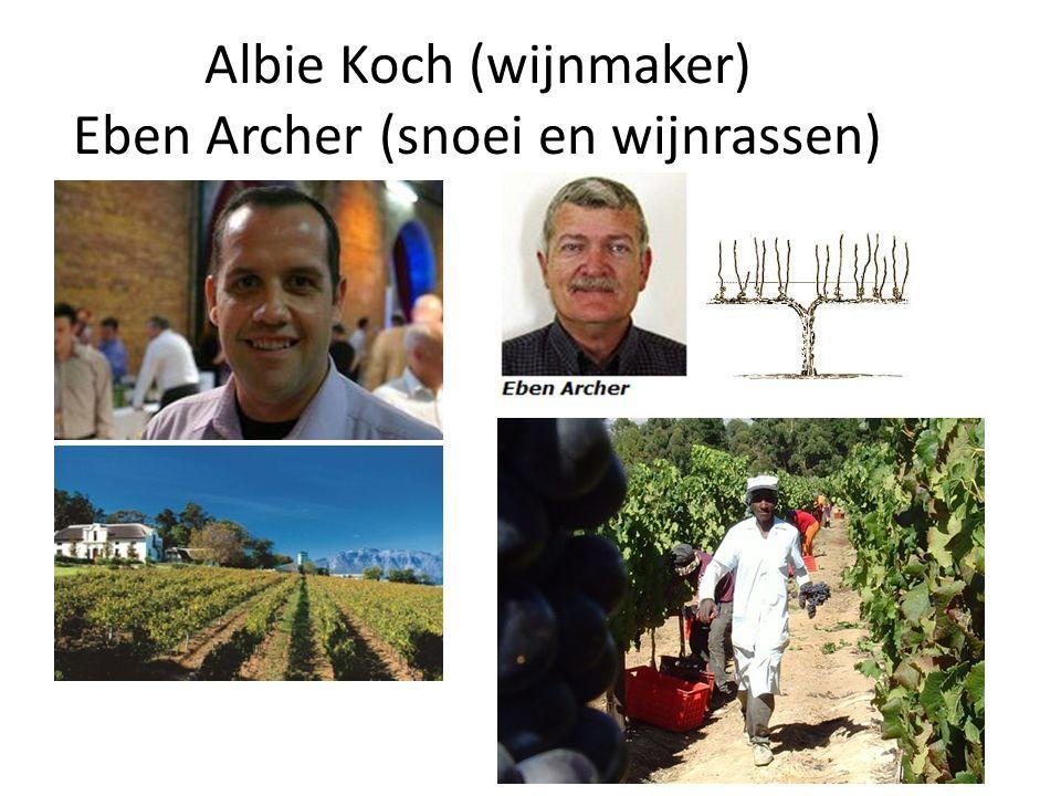 Albie Koch (wijnmaker) Eben Archer (snoei en wijnrassen)