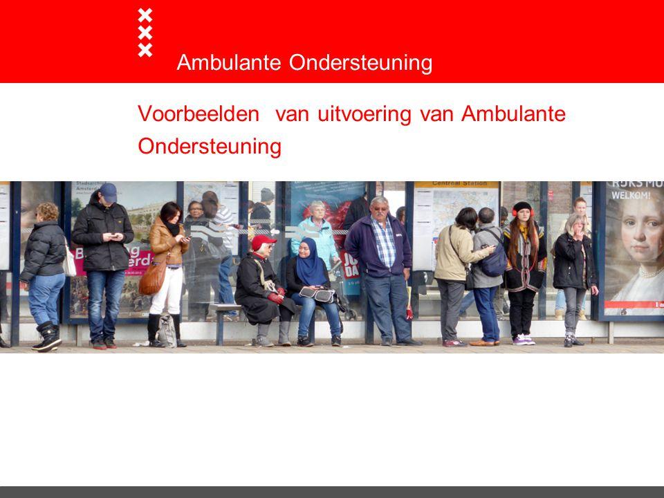 Voorbeelden van uitvoering van Ambulante Ondersteuning Ambulante Ondersteuning