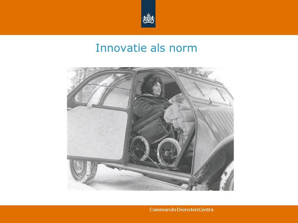 Commando DienstenCentra Innovatie als norm