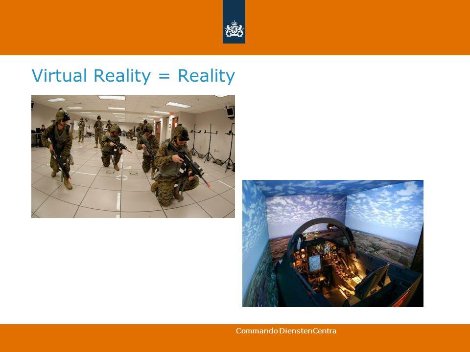 Commando DienstenCentra Virtual Reality = Reality