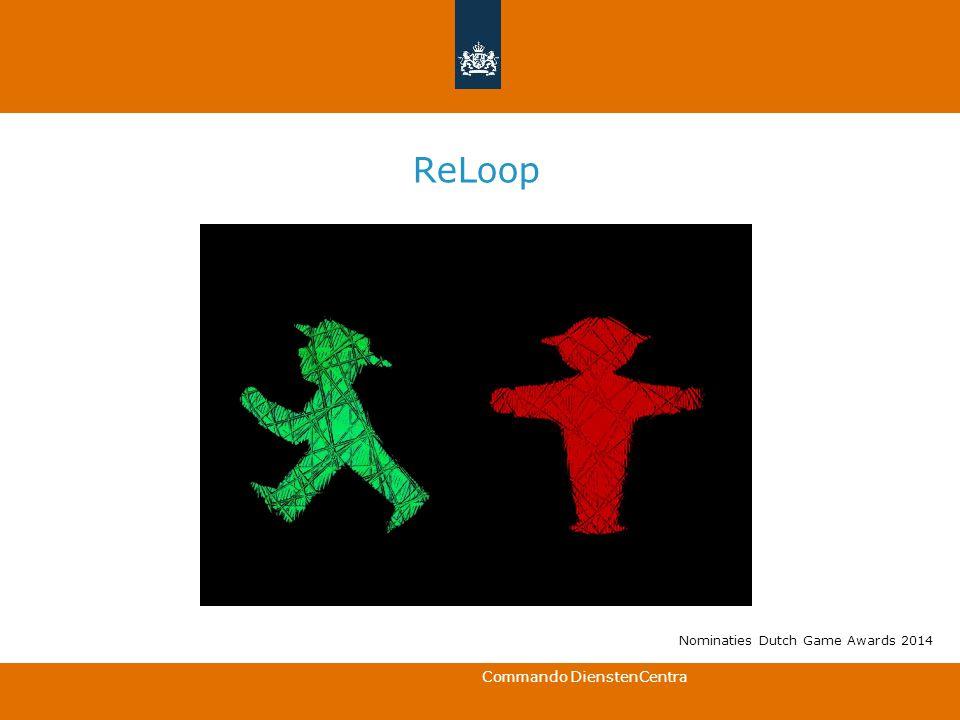 Commando DienstenCentra ReLoop Nominaties Dutch Game Awards 2014