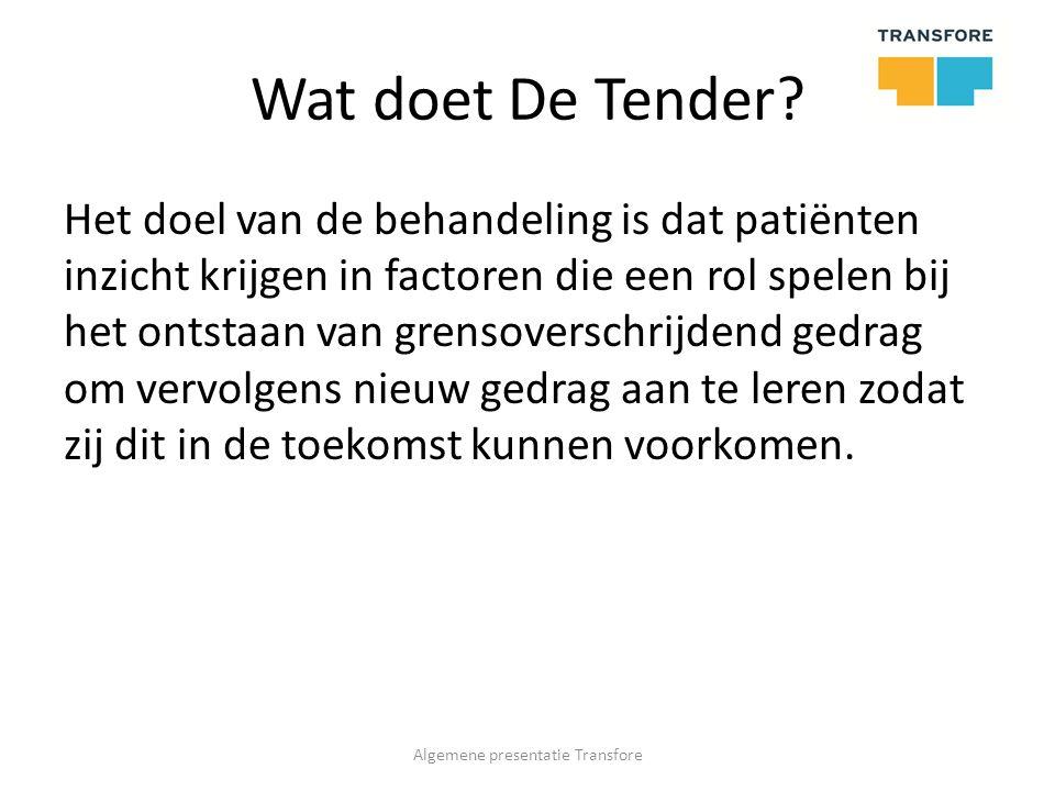Locaties De Tender is 18 jaar geleden gestart in Deventer aan de Kamperstraat.
