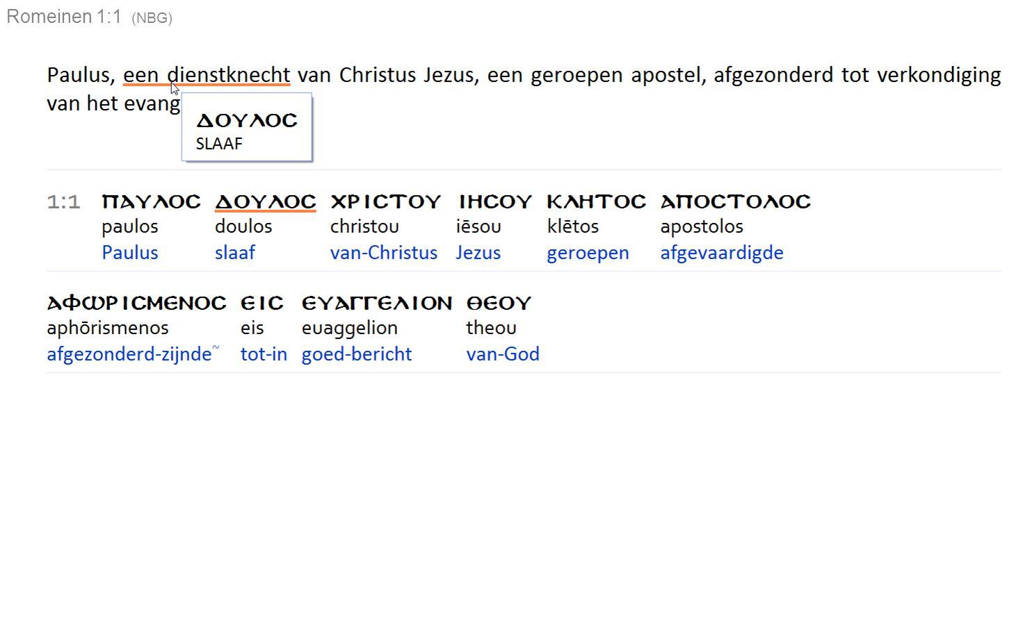 Conclusies : De definitie van het woordenboek Koenen voor eeuwigheid past niet op de definitie van de Studiebijbel.