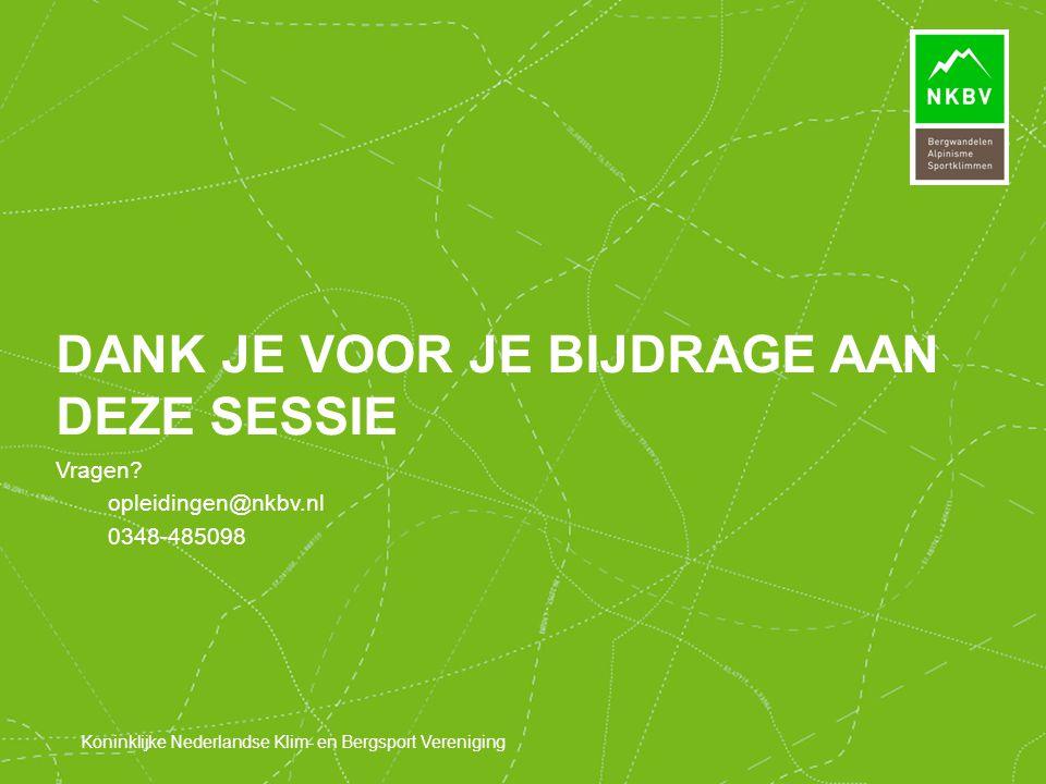 Koninklijke Nederlandse Klim- en Bergsport Vereniging Vragen.