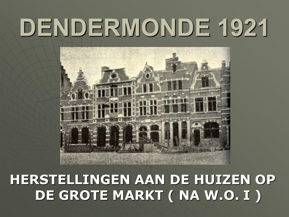 HAMME 1921 NAAR AANLEIDING VAN HET EINDE VAN DE EERSTE WERELDOORLOG WORDT EEN MONUMENT ONTHULD