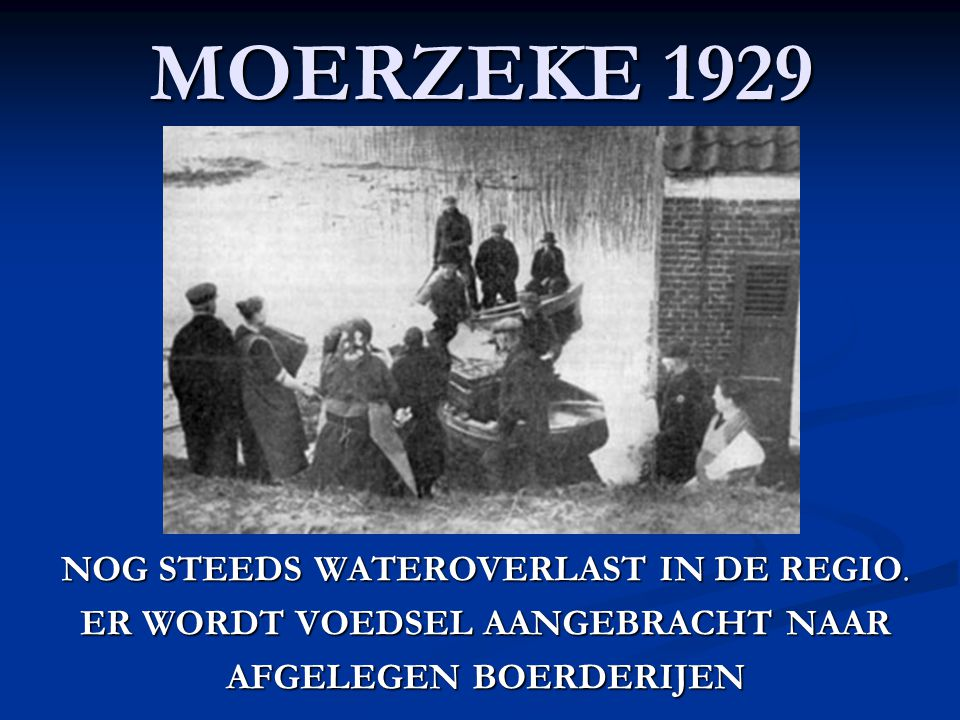 GREMBERGEN 1928 OVERSTROMING OP DE BAAN NAAR DENDERMONDE