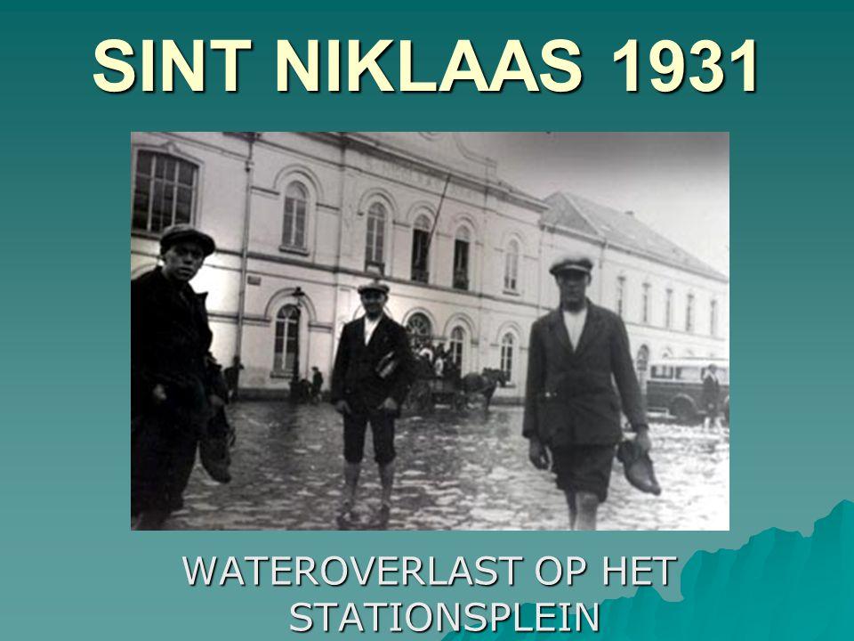 GREMBERGEN 1930 OPNIEUW WATERELLENDE OP DE STEENWEG NAAR DENDERMONDE