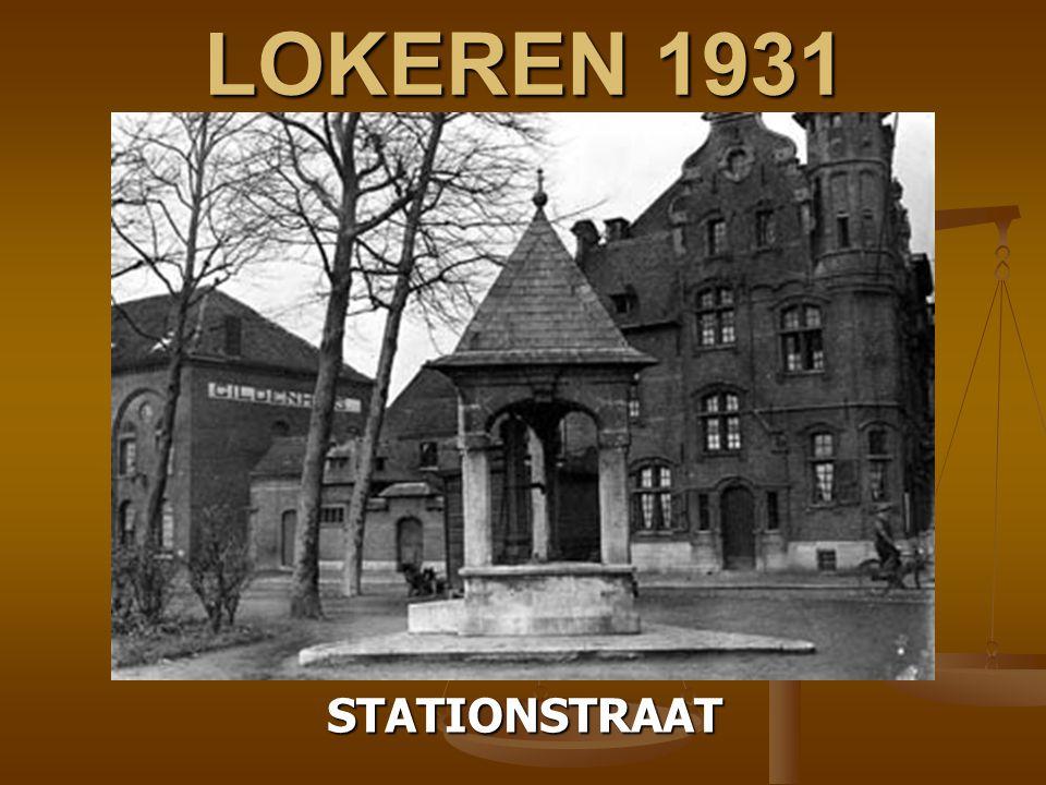 SINT NIKLAAS 1931 WATEROVERLAST OP HET STATIONSPLEIN