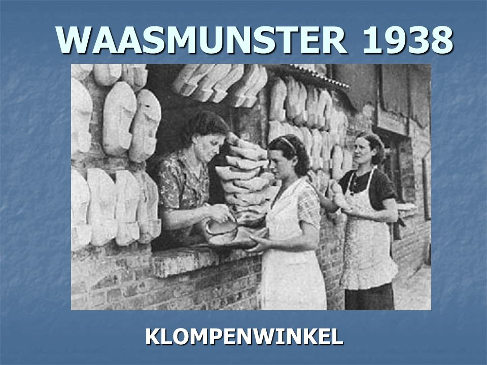 WAASMUNSTER 1936 WAASMUNSTER 1936 N.A.V. DE OVERSTROMING KOMT DE KONING OP BEZOEK