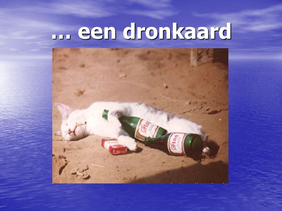 … een dronkaard
