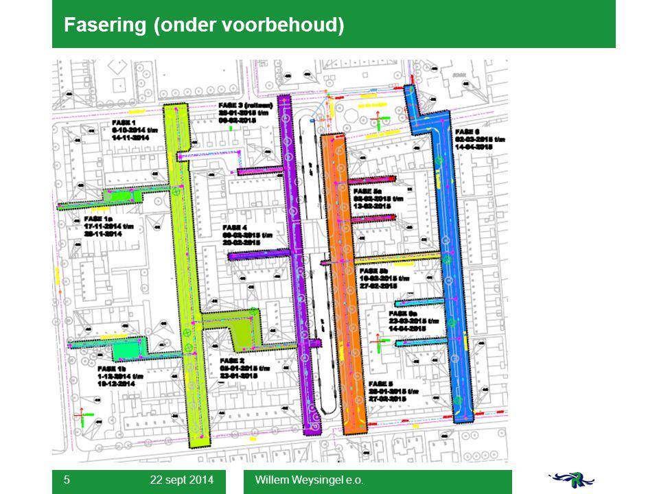 22 sept 2014 Willem Weysingel e.o. 5 Fasering (onder voorbehoud)