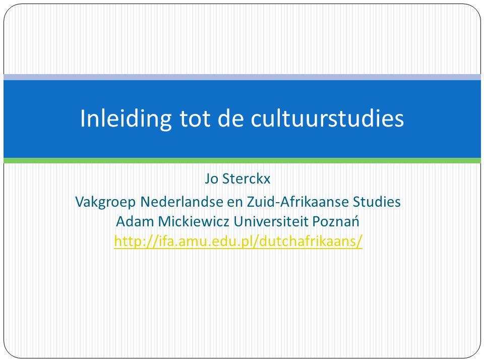 Jo Sterckx Vakgroep Nederlandse en Zuid-Afrikaanse Studies Adam Mickiewicz Universiteit Poznań http://ifa.amu.edu.pl/dutchafrikaans/ Inleiding tot de