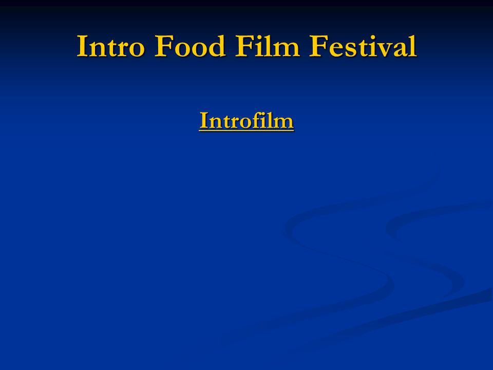 Intro Food Film Festival Introfilm