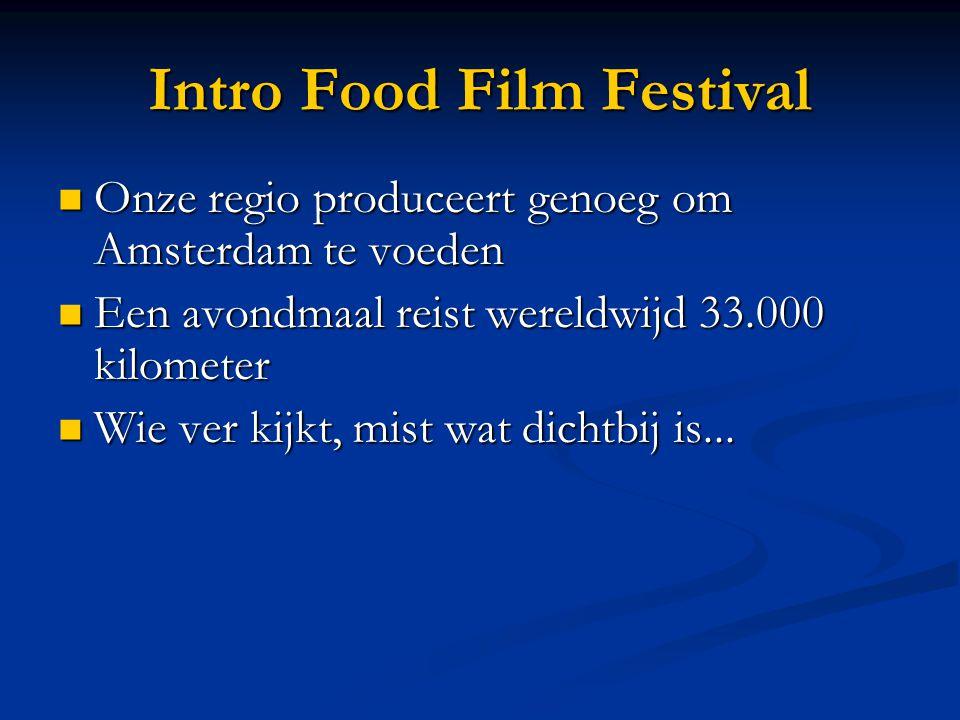 Onze regio produceert genoeg om Amsterdam te voeden Onze regio produceert genoeg om Amsterdam te voeden Een avondmaal reist wereldwijd 33.000 kilometer Een avondmaal reist wereldwijd 33.000 kilometer Wie ver kijkt, mist wat dichtbij is...