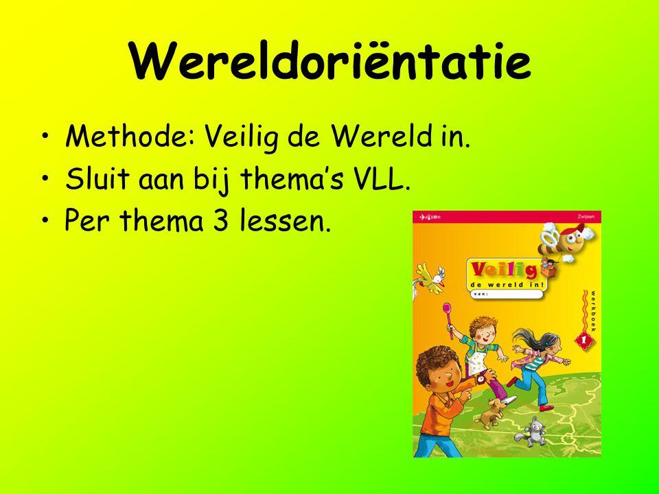 Wereldoriëntatie Methode: Veilig de Wereld in. Sluit aan bij thema's VLL. Per thema 3 lessen.