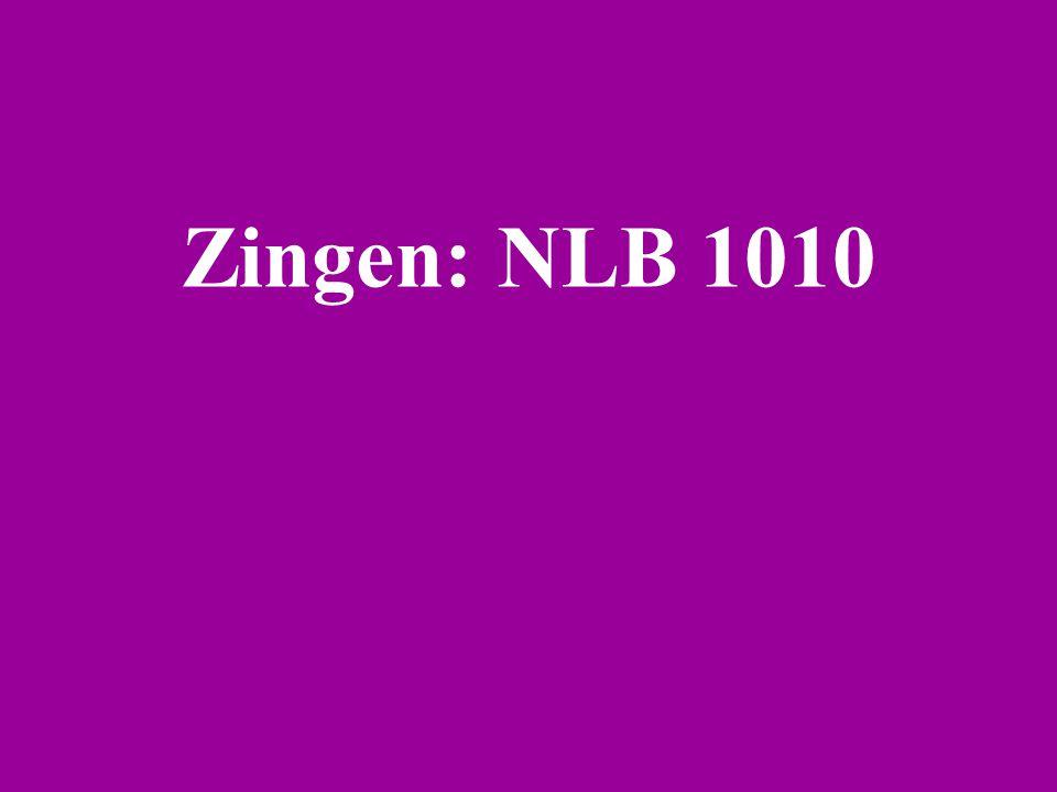 Zingen: NLB 1010