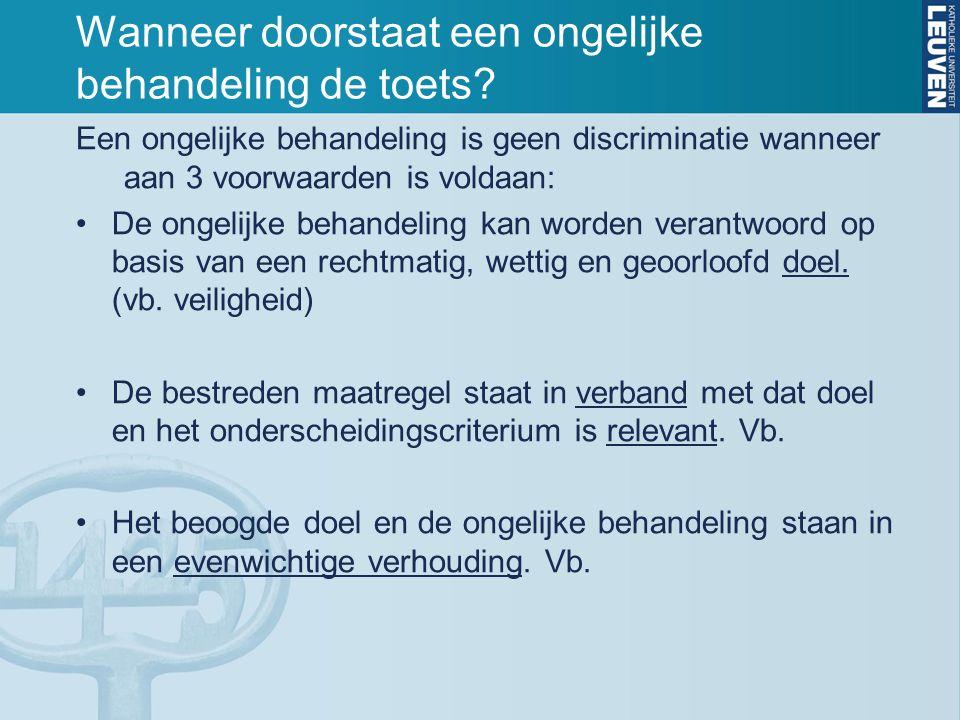 Directe discriminatie t.o.v.