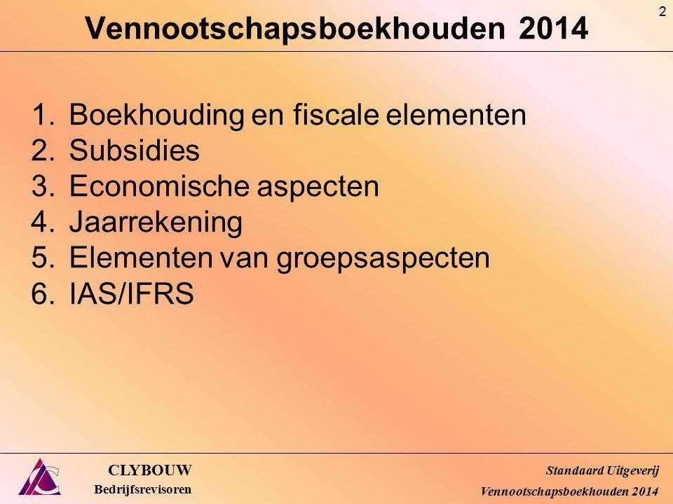 IFRS 9 : Financial instruments bron IBR/ICCI CLYBOUW Bedrijfsrevisoren Standaard Uitgeverij Vennootschapsboekhouden 2014 83