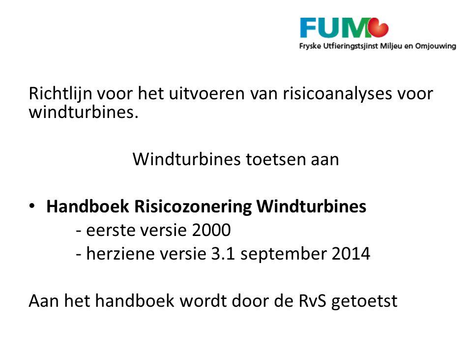 Richtlijn voor het uitvoeren van risicoanalyses voor windturbines.