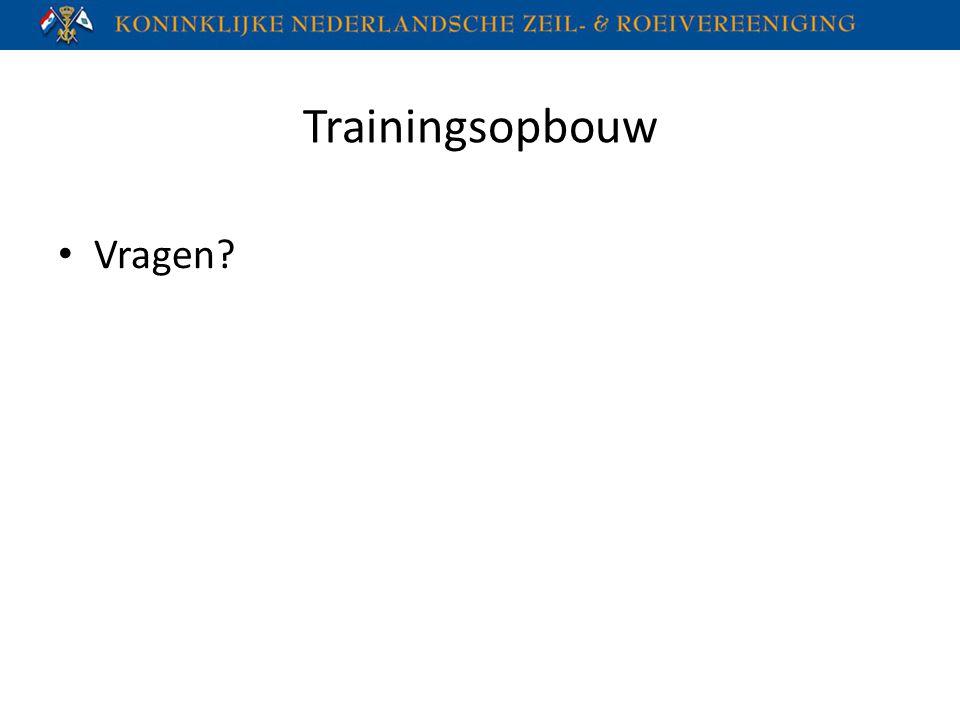 Trainingsopbouw Vragen?