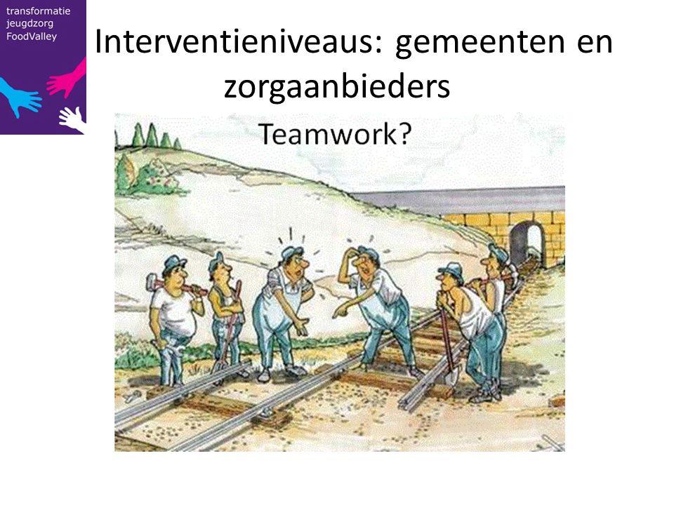 Interventieniveaus: gemeenten en zorgaanbieders