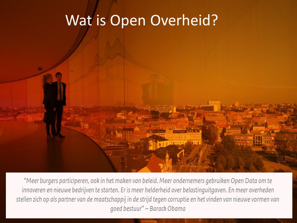 Wat is Open Overheid