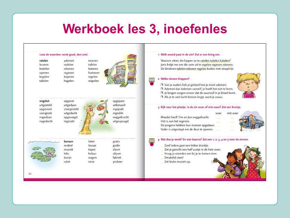 Werkboek les 3, inoefenles