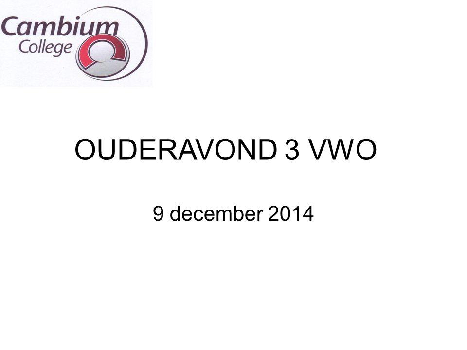 OUDERAVOND 3 VWO 9 december 2014
