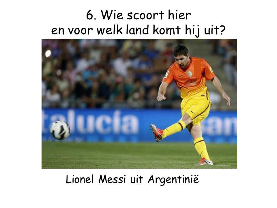 Lionel Messi uit Argentinië