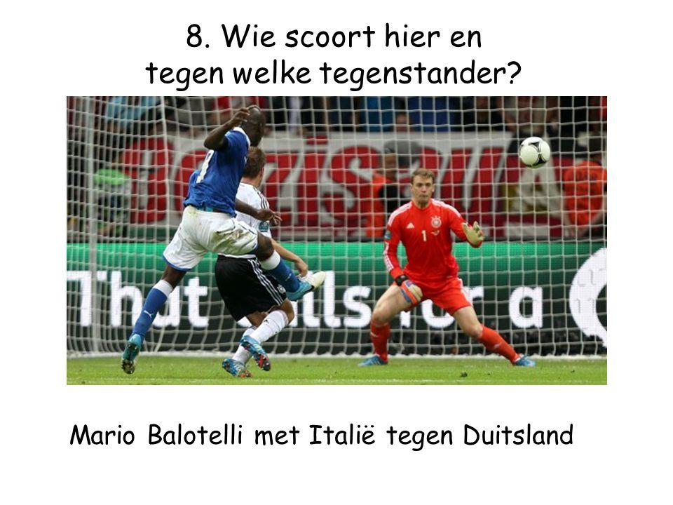 Mario Balotelli met Italië tegen Duitsland