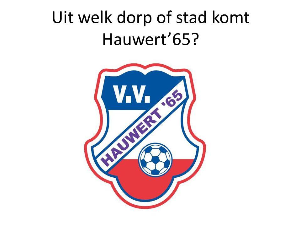 Uit welk dorp of stad komt Hauwert'65