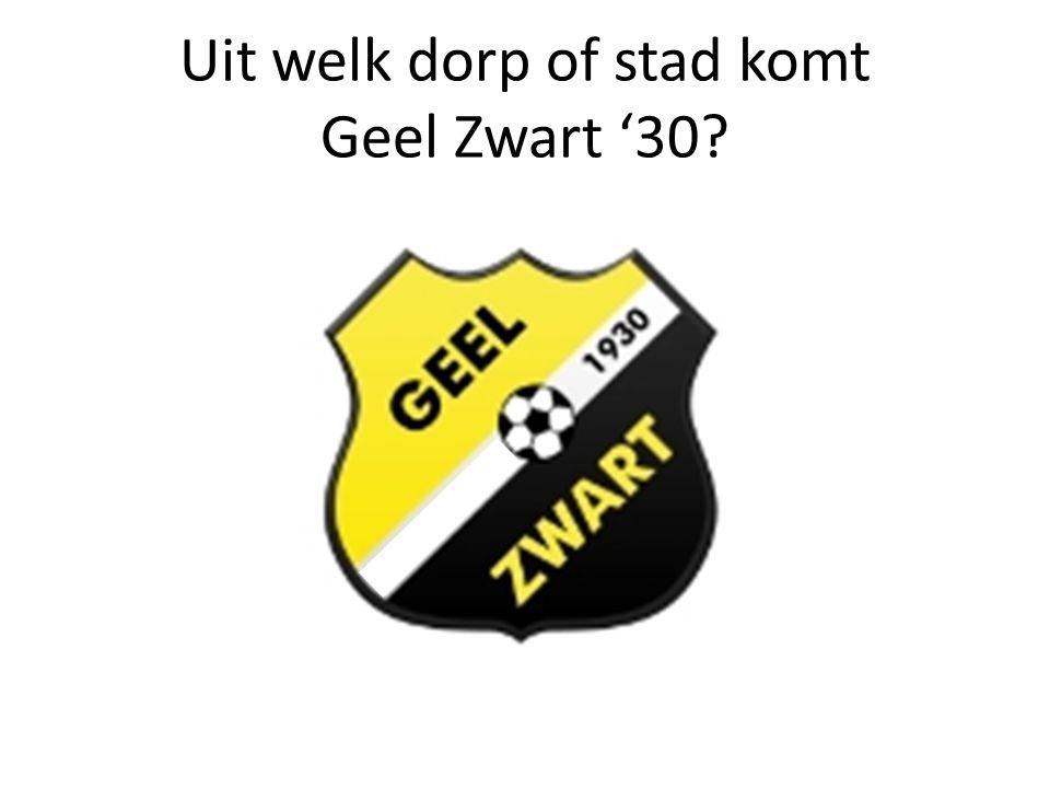Uit welk dorp of stad komt Geel Zwart '30?
