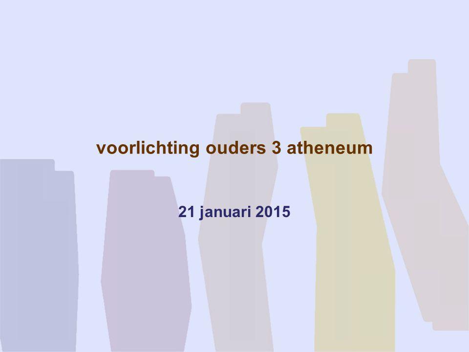 voorlichting ouders 3 atheneum 21 januari 2015