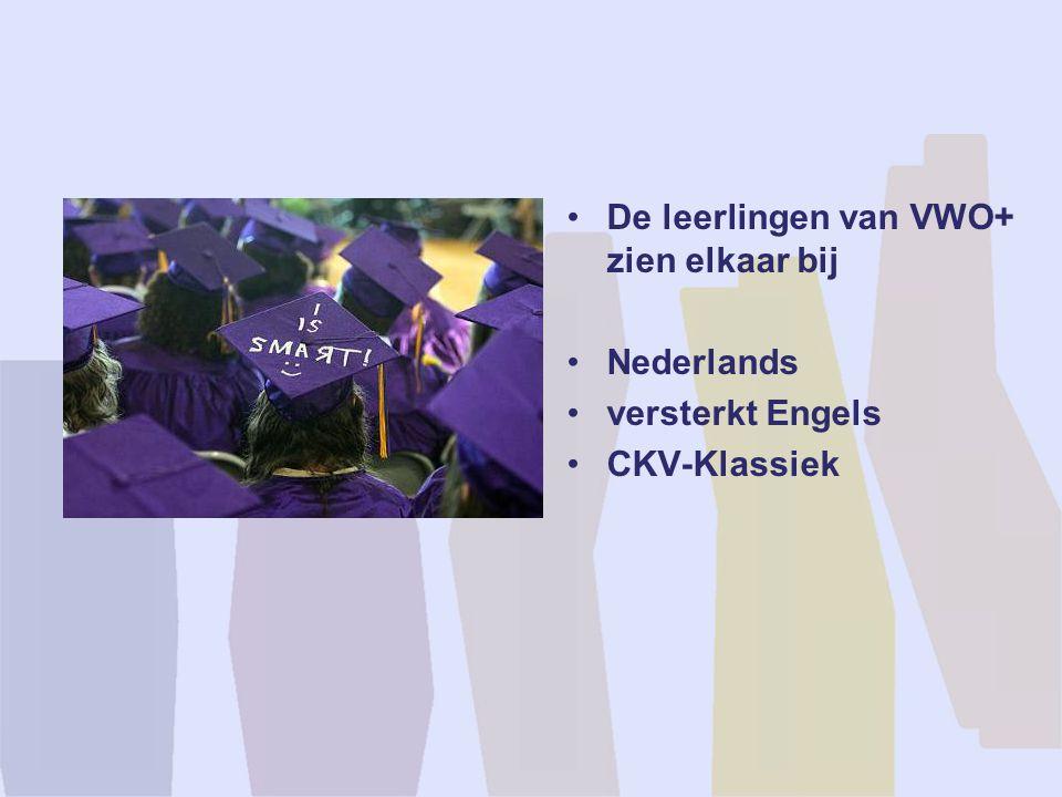 De leerlingen van VWO+ zien elkaar bij Nederlands versterkt Engels CKV-Klassiek