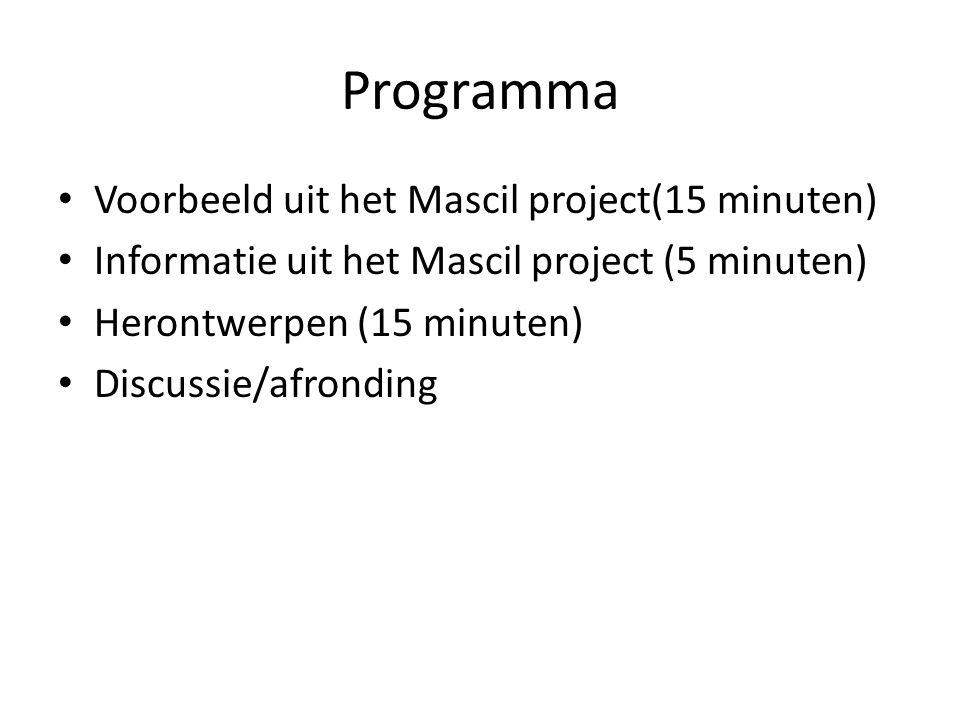Informatie over het project bollen van primas/mascil