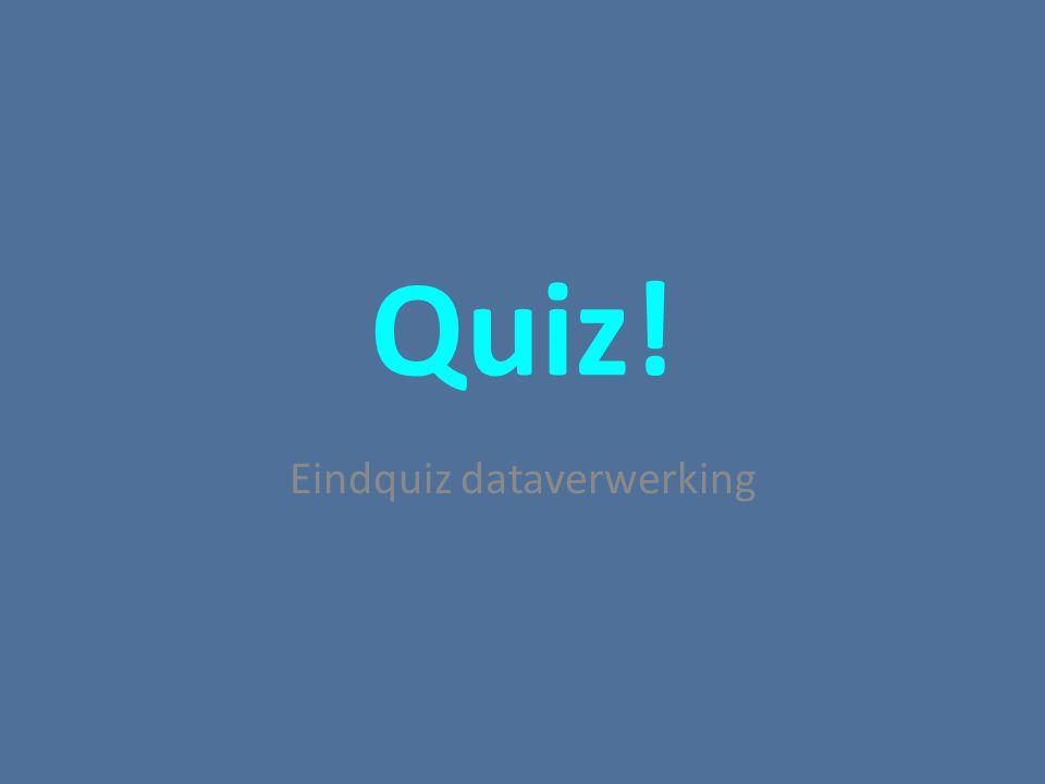 Quiz! Eindquiz dataverwerking