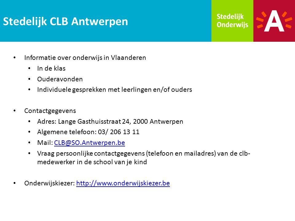Informatie over onderwijs in Vlaanderen In de klas Ouderavonden Individuele gesprekken met leerlingen en/of ouders Contactgegevens Adres: Lange Gasthu