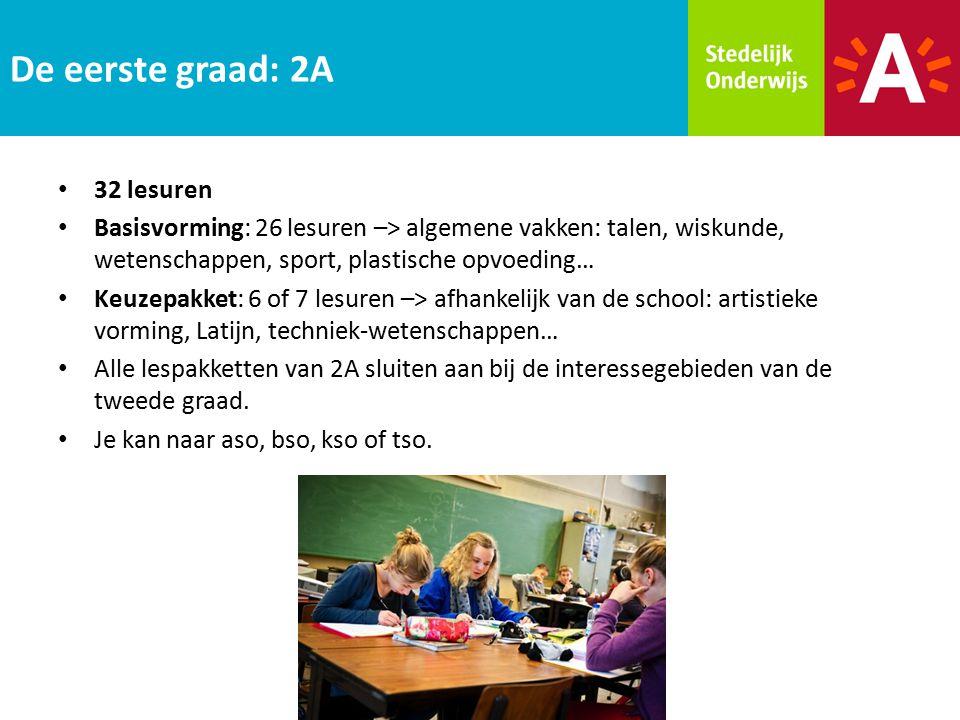 32 lesuren Basisvorming: 26 lesuren –> algemene vakken: talen, wiskunde, wetenschappen, sport, plastische opvoeding… Keuzepakket: 6 of 7 lesuren –> af