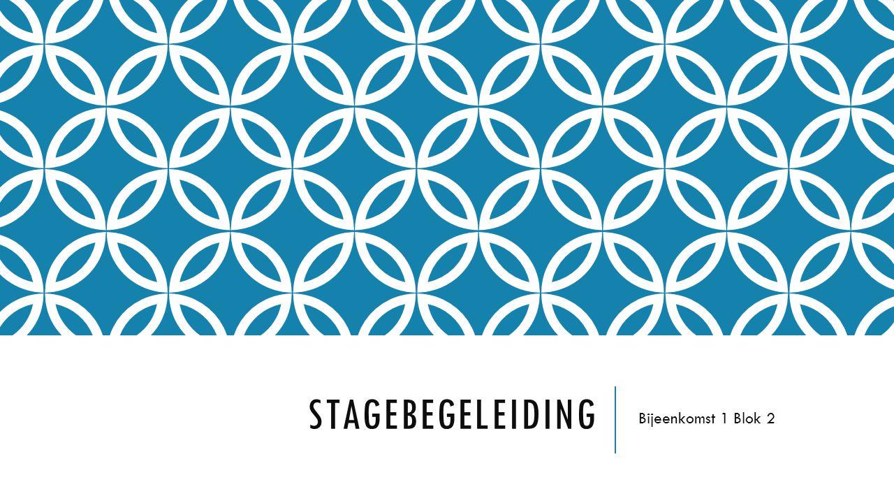 STAGEBEGELEIDING Bijeenkomst 1 Blok 2