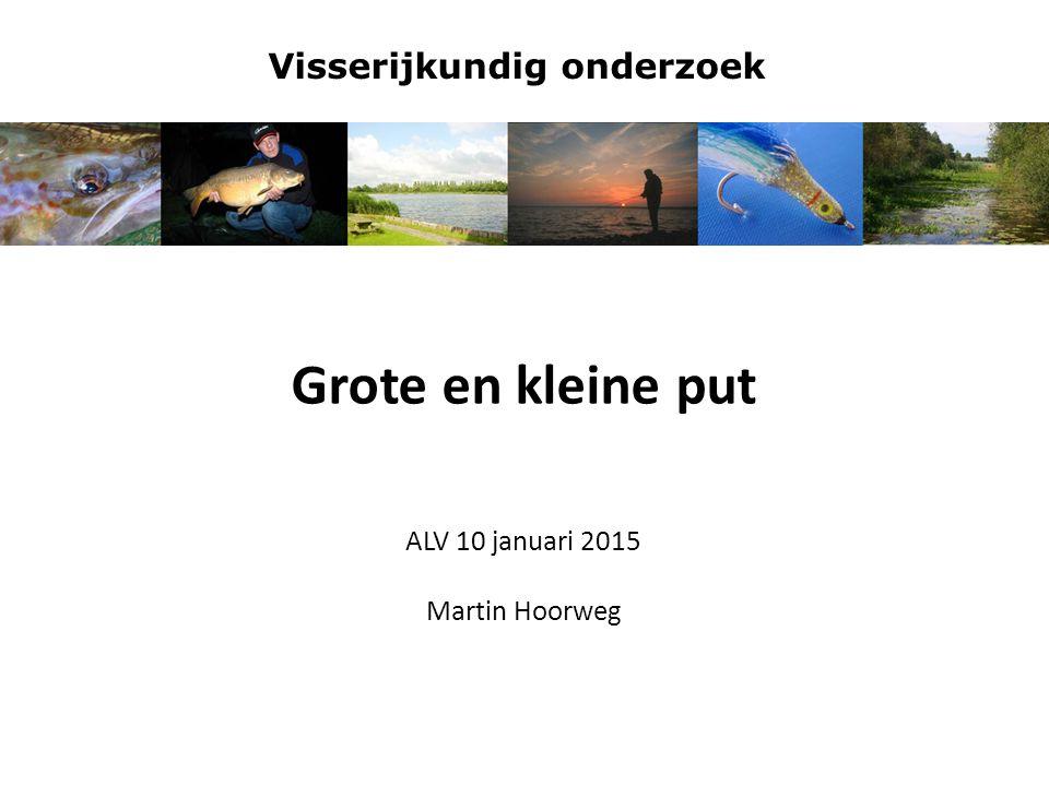 Visserijkundig onderzoek Inhoudsopgave: Visserijkundig onderzoek: Grote put Kleine put Conclusie en aanbevelingen Project mengen-beluchten Resultaten Hoe verder?