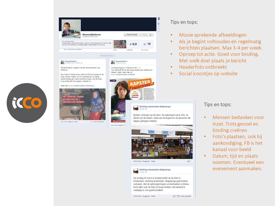 Tips en tops: Mooie sprekende afbeeldingen Als je begint volhouden en regelmatig berichten plaatsen.