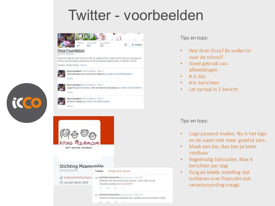 Twitter - voorbeelden Tips en tops: Wat doet Ifoza.