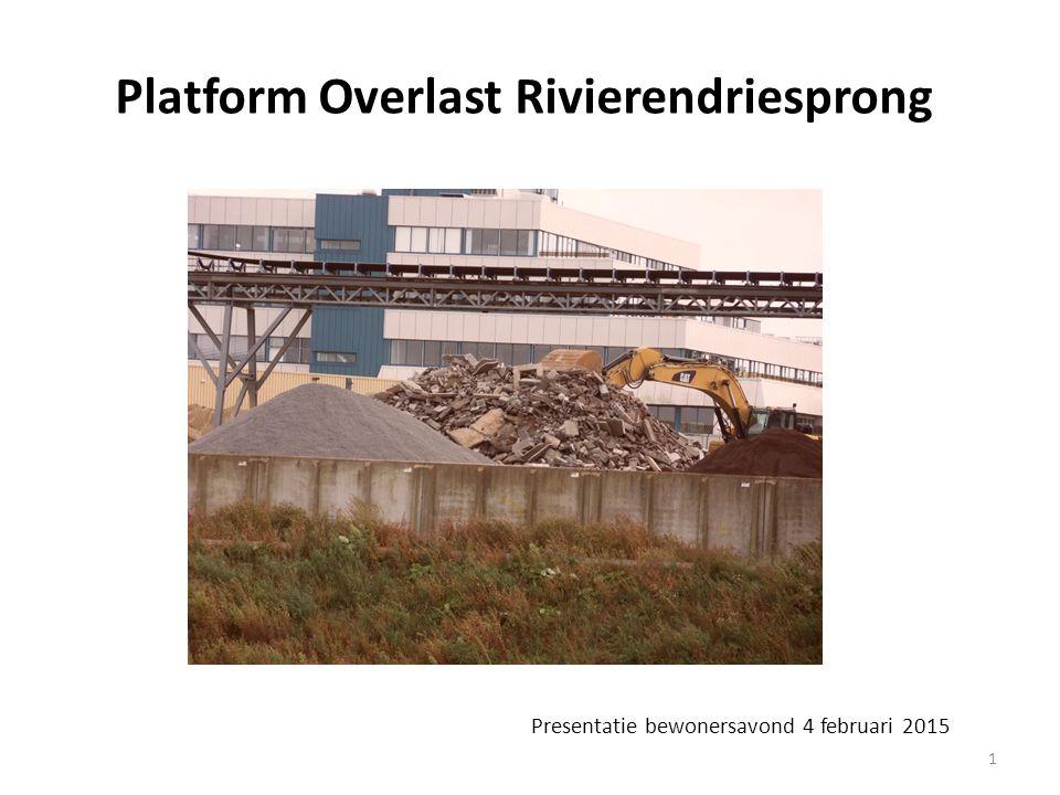 Presentatie bewonersavond 4 februari 2015 1 Platform Overlast Rivierendriesprong