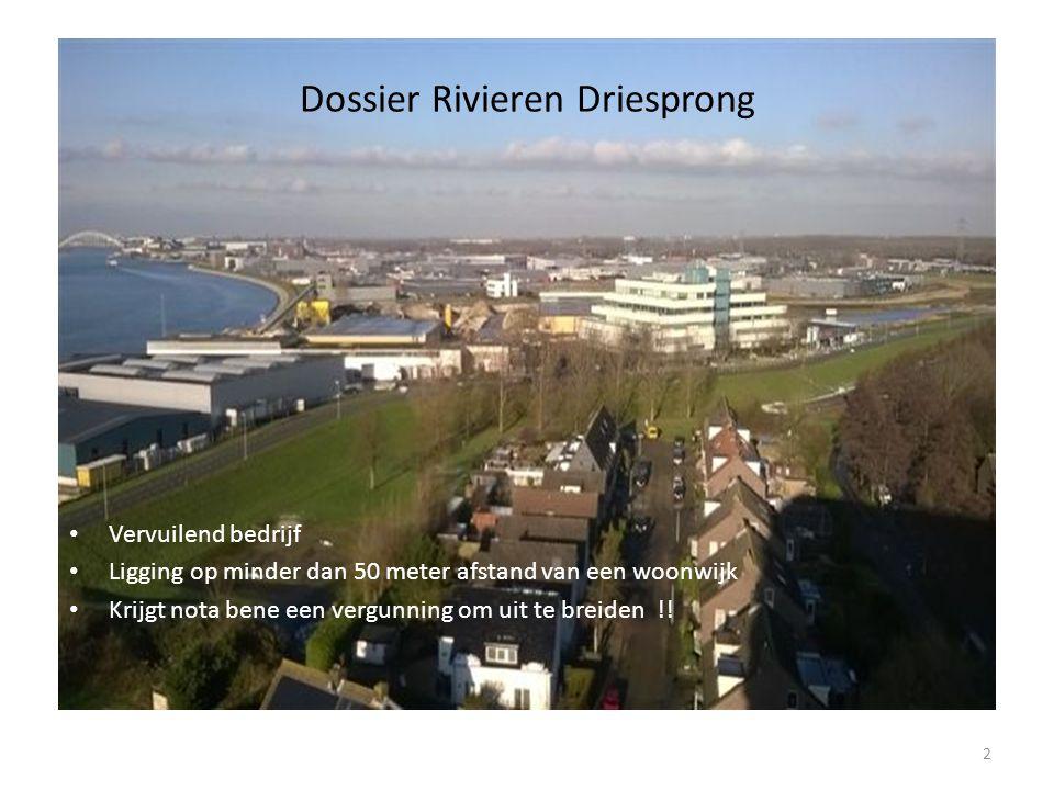 Vervuilend bedrijf Ligging op minder dan 50 meter afstand van een woonwijk Krijgt nota bene een vergunning om uit te breiden !.