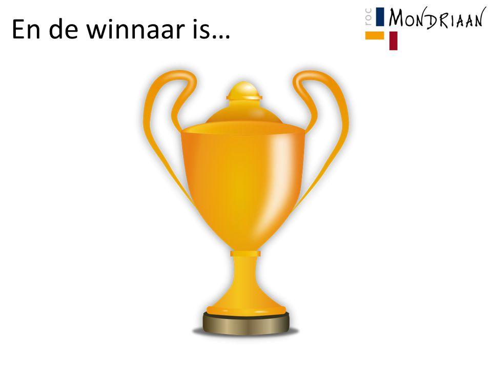 En de winnaar is…